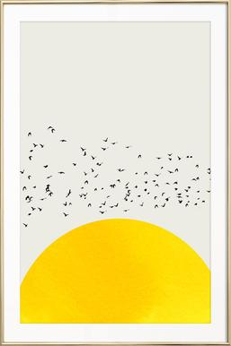 A Thousand Birds - Poster in aluminium lijst