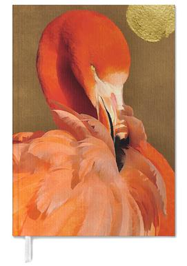 Flamingo with Golden Sun Personal Planner