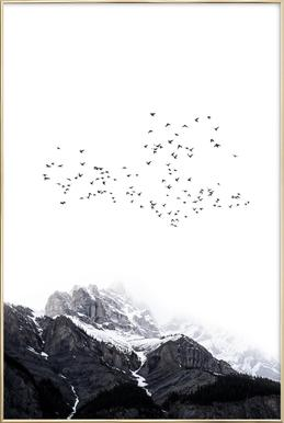 The Mountains Poster in Aluminium Frame