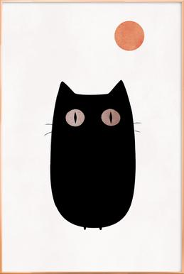 Meow Poster in Aluminium Frame