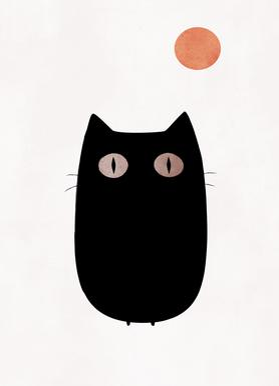 Meow -Leinwandbild