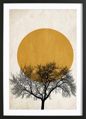 Wintermorgen - Poster in Wooden Frame