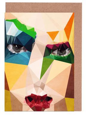 Mondrian Studie No.4 Greeting Card Set