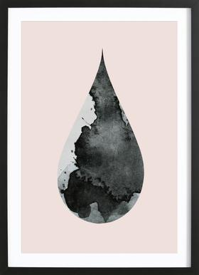Drop No. 4 - Poster in Wooden Frame