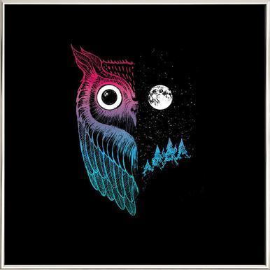 Night Owl -Poster im Alurahmen
