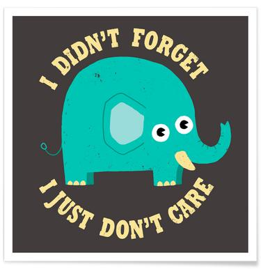 An Elephant Never Cares Poster