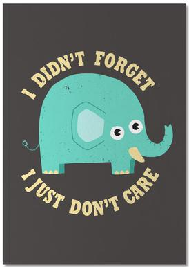 An Elephant Never Cares Notebook