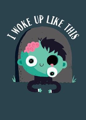 I Woke Up Like This -Leinwandbild