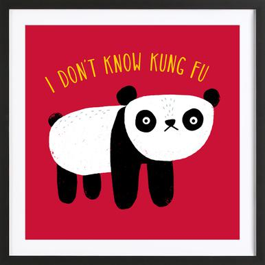 Regular Panda -Bild mit Holzrahmen