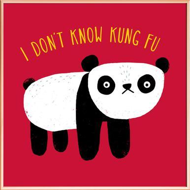Regular Panda -Poster im Alurahmen