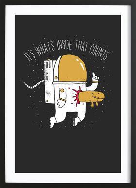 Space Sucks Framed Print