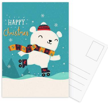 Get You Skates On Postcard Set
