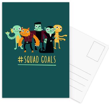 Squad Goals -Postkartenset