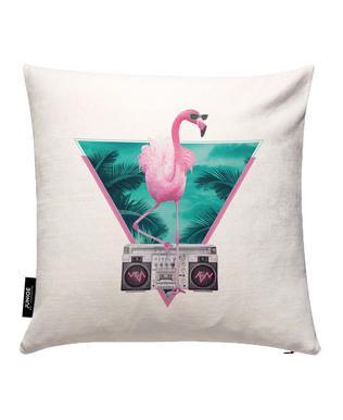 Miami Flamingo Cushion Cover