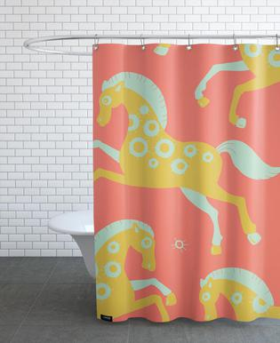 Polle red Shower Curtain