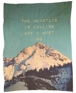 Mountain Is Calling Fleece Blanket