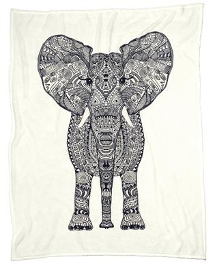 Aztec Elephant Fleece Blanket
