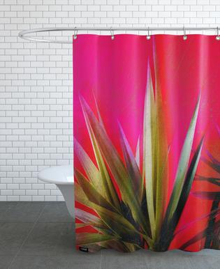 Vivid Pink rideau de douche