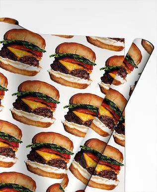 Cheeseburger Pattern papier cadeau