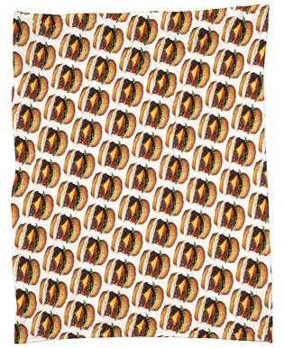 Cheeseburger Pattern Fleece Blanket