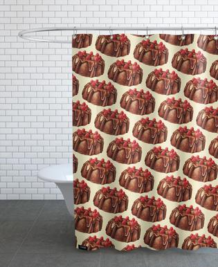 Chocolate Bundt Cake Pattern Shower Curtain