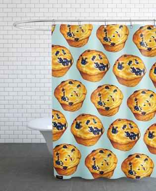 Blueberry Muffin Pattern Shower Curtain
