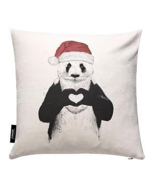 Santa Panda Cushion Cover