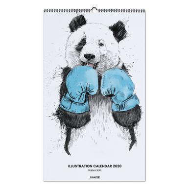 Illustration Calendar 2020 - Balázs Solti -Wandkalender