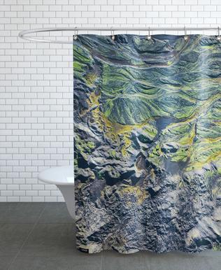 Raw 8 Skeiðarársandur Iceland Shower Curtain