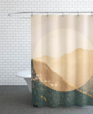 Landscapes Circular 2 Alps Shower Curtain