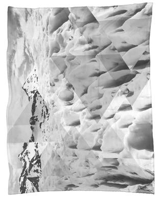 Scattered 2 Perito Moreno BW Fleece Blanket