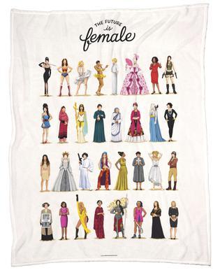 The Future Is Female Fleece Blanket