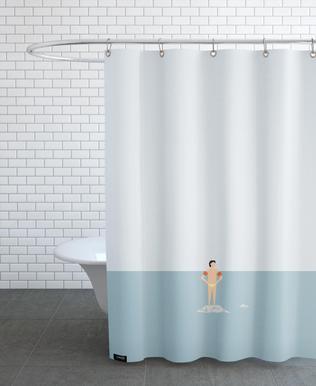 Ocaen Svømmere Boy Shower Curtain