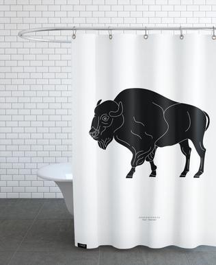 Skedehornede Black rideau de douche