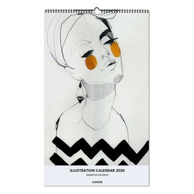 Illustration Calendar 2020 - Ekaterina Koroleva -Wandkalender