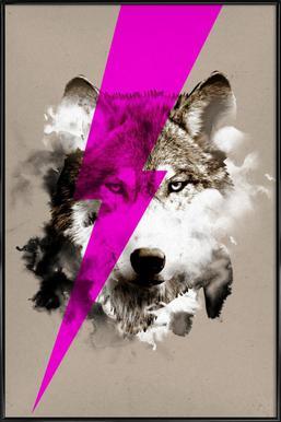 Wolf rocks -Bild mit Kunststoffrahmen