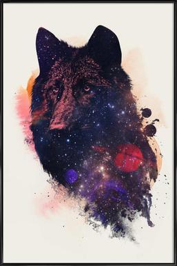 Universal Wolf -Bild mit Kunststoffrahmen