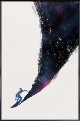 Surfing the Universe Framed Poster
