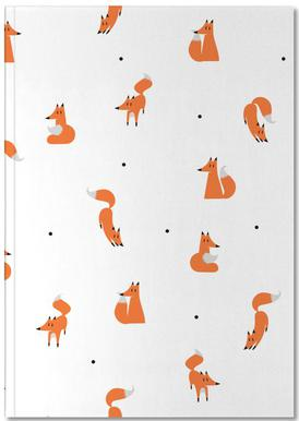 Winter Foxes Notebook