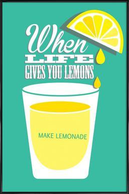 Lemons affiche encadrée