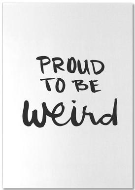 Proud to be weird bloc-notes