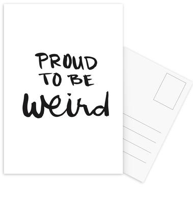 Proud to be weird cartes postales