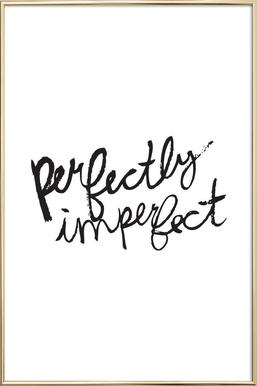 Perfectly Imperfect poster in aluminium lijst