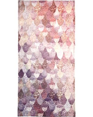 Mermaid Rosegold Beach Towel