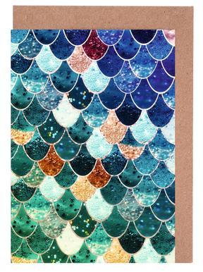 Mermaid Tiffany Greeting Card Set