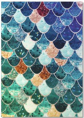 Mermaid Tiffany carnet de notes