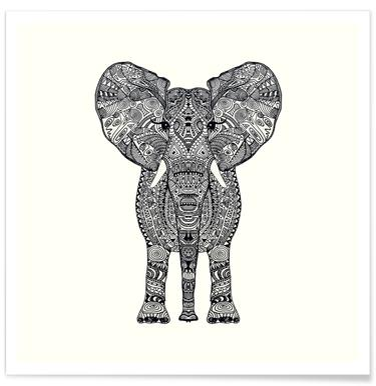 Aztec Elephant affiche