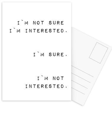 Im Not Interested Postcard Set
