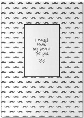 Mustache Notebook