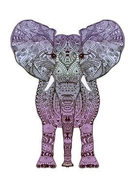 Purple Elephant toile